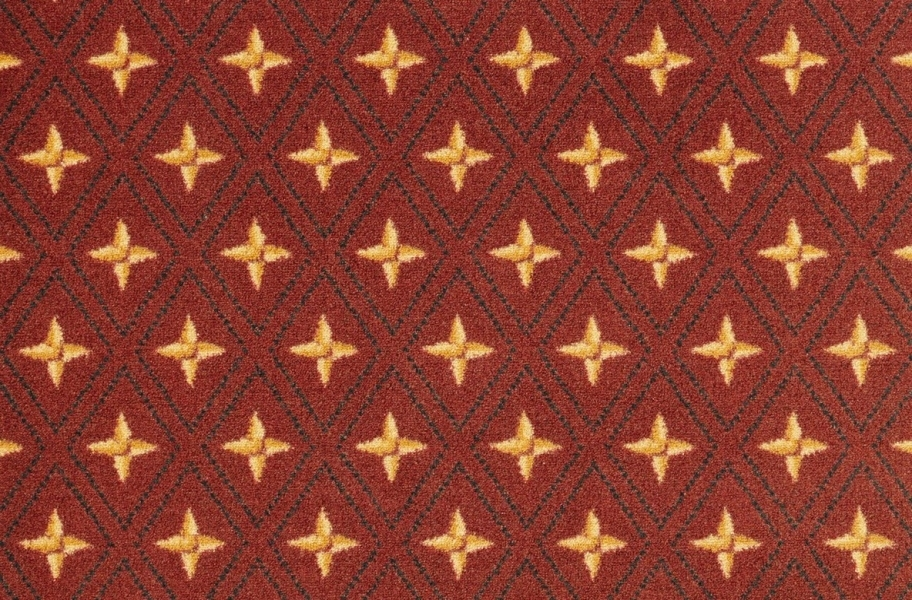 Joy Carpets Star Trellis Carpet - Red