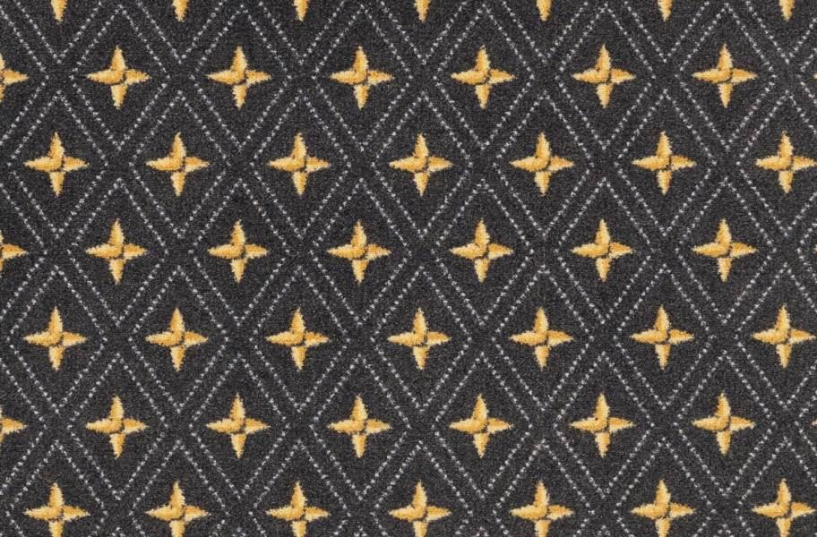 Joy Carpets Star Trellis Carpet - Gray