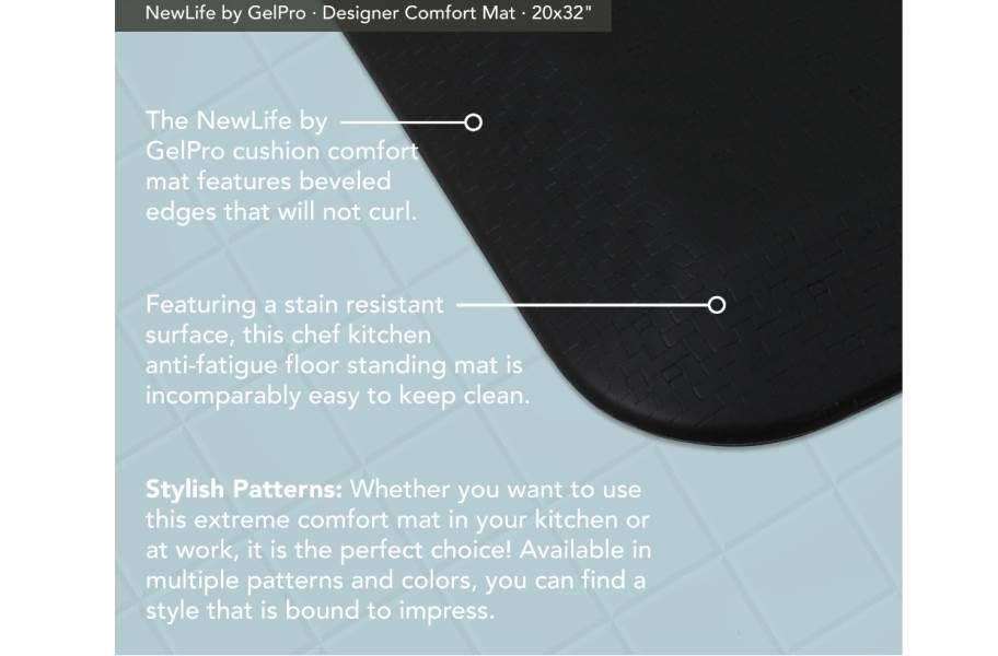GelPro NewLife Designer Sisal Comfort Mat