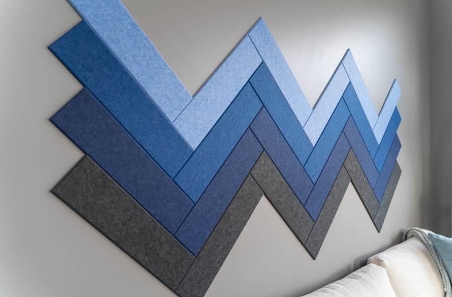 Felt Right Herringbone Acoustic Wall Tiles - Peachy Herringbone