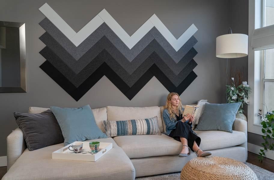 Felt Right Herringbone Acoustic Wall Tiles