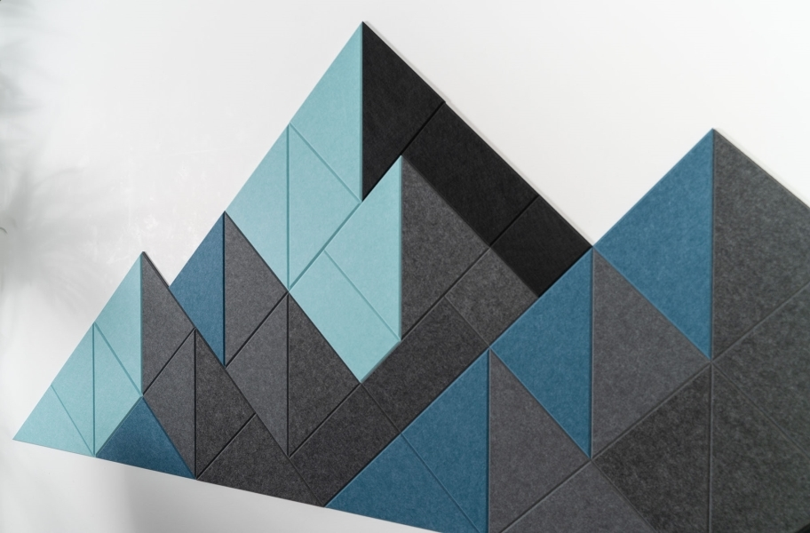 Felt Right Shaded Mountain Acoustic Wall Tiles - Cool Shaded Mountain