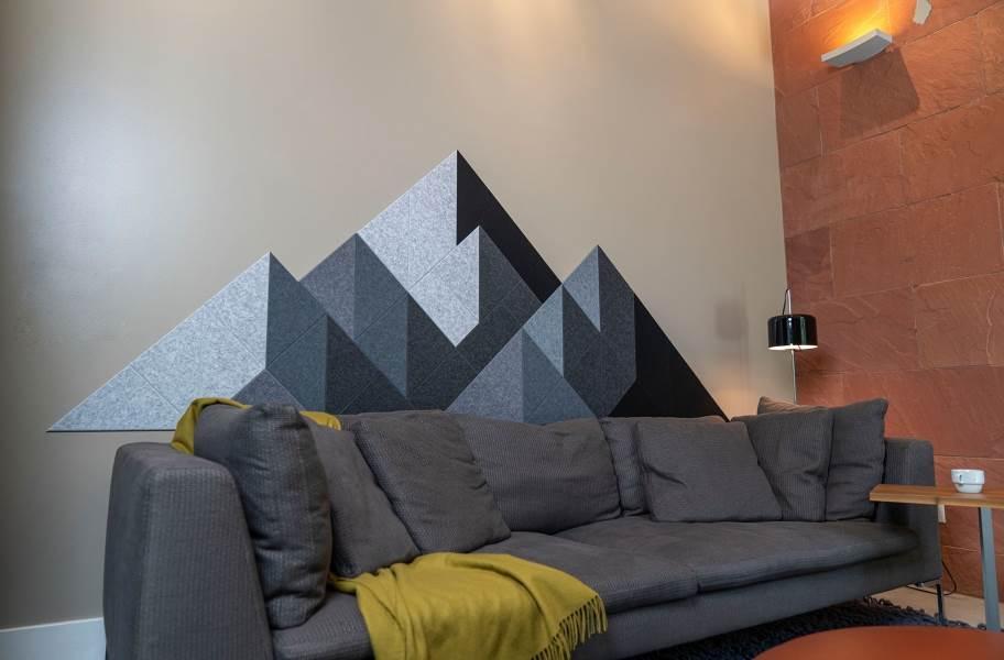 Felt Right Shaded Mountain Acoustic Wall Tiles - Gray Shaded Mountain