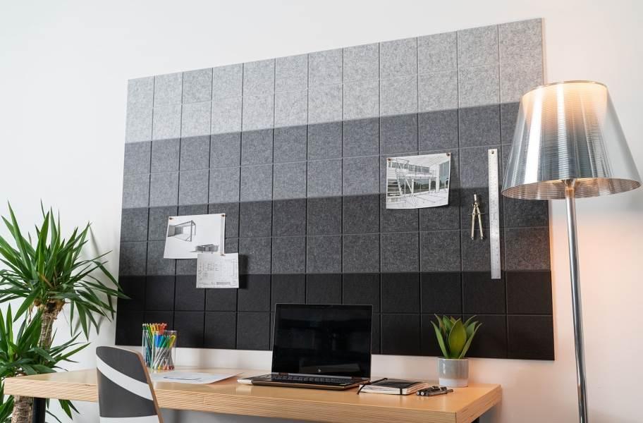 Felt Right Ombre Acoustic Wall Tiles - Gray