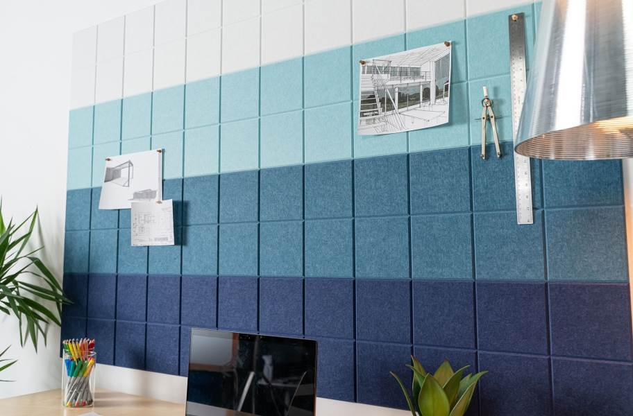Felt Right Ombre Acoustic Wall Tiles - Cool