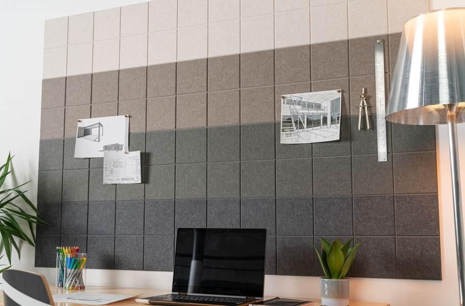 Felt Right Ombre Acoustic Wall Tiles - Warm