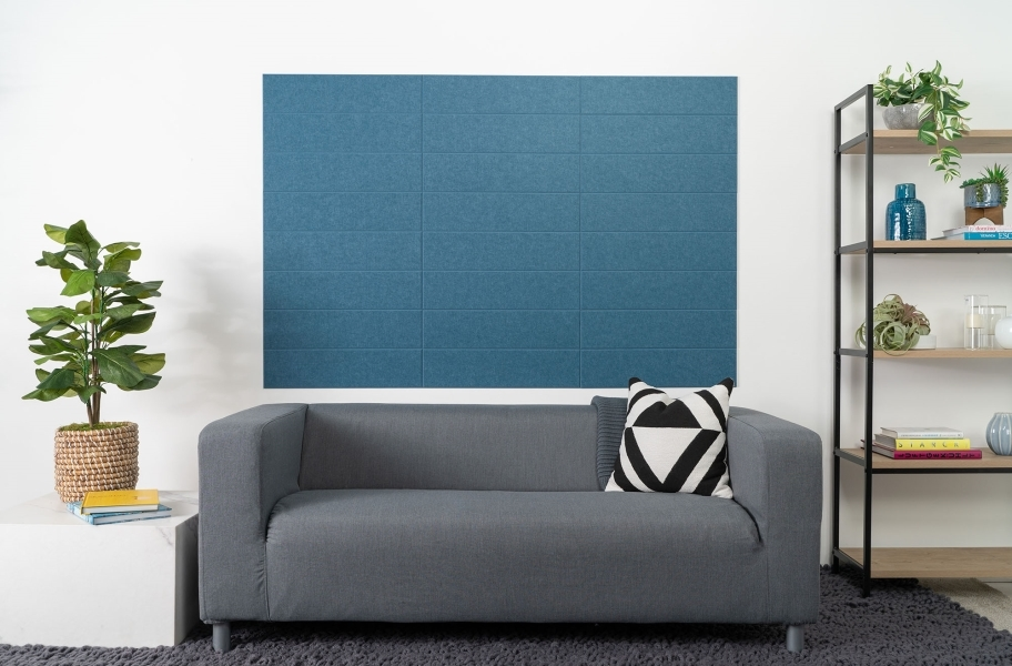 Felt Right Shiplap Acoustic Wall Tiles - Blue