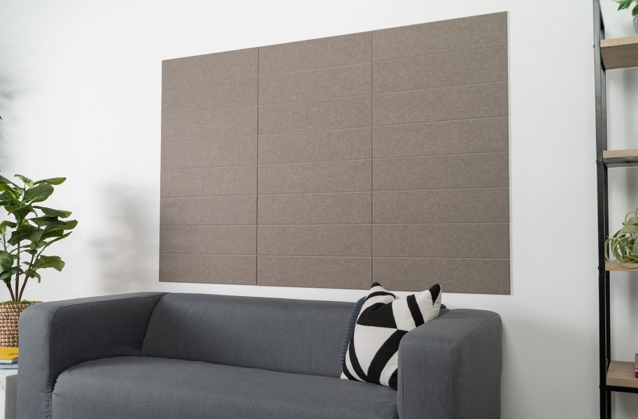 Felt Right Shiplap Acoustic Wall Tiles - Ash