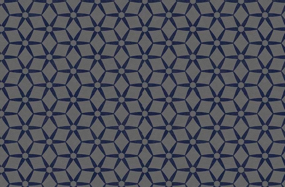 Margo Flex Tiles - Modern Mosaics - Floret Midnight Accent