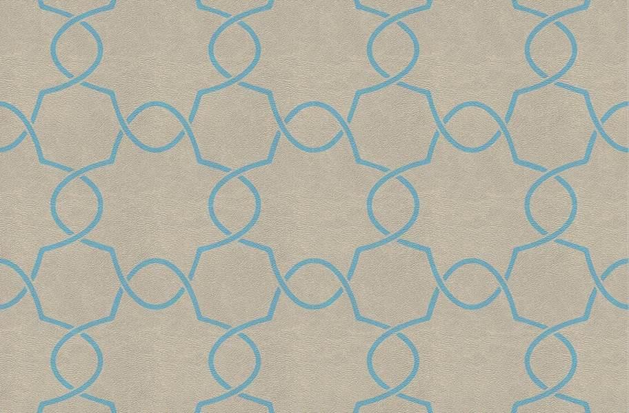 Margo Flex Tiles - Floral Accents - Petal Blue Accent 1
