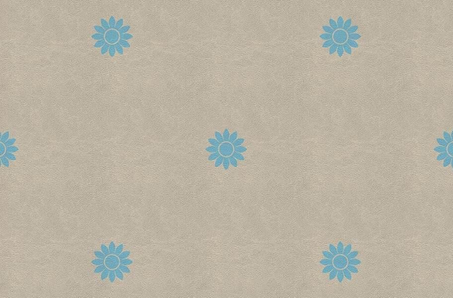 Margo Flex Tiles - Floral Accents - Petal Blue Accent 2