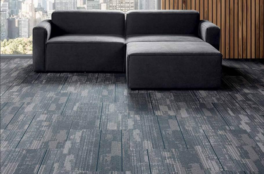 J&J Flooring Fast Track Carpet Plank - Nitro