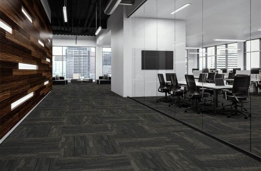 J&J Flooring Fast Track Carpet Plank - Breakout