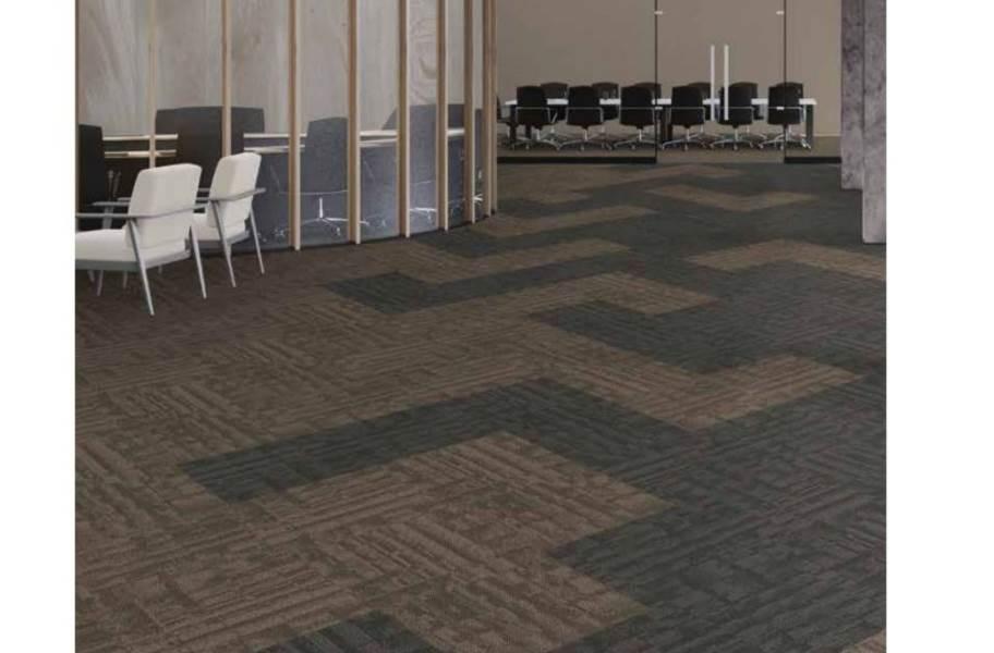 J&J Flooring Outfitter Carpet Plank - Muslin and Duck