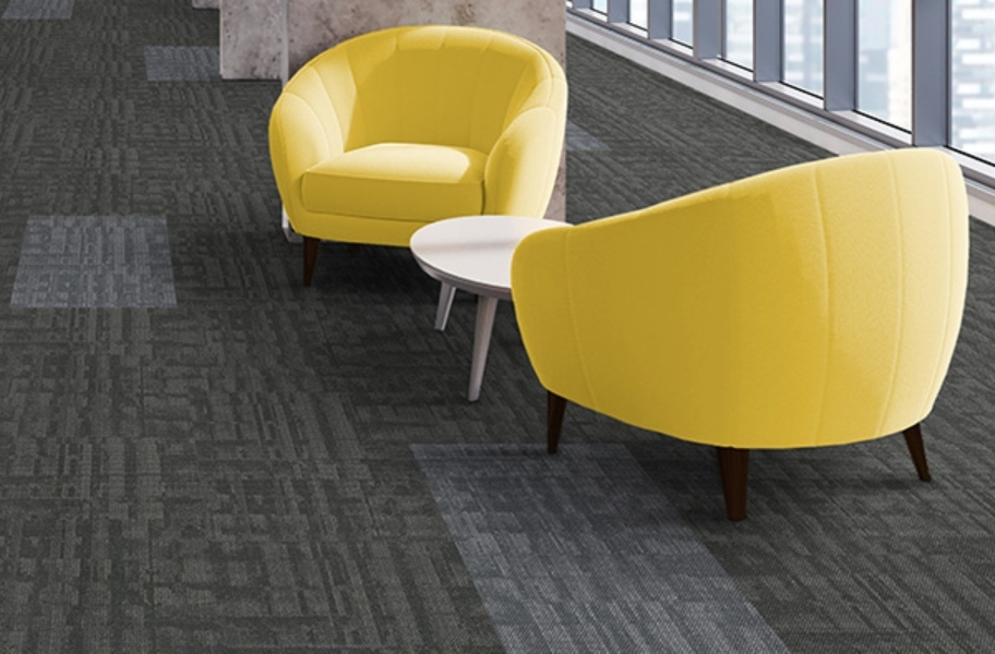 J&J Flooring Outfitter Carpet Plank - Jersey and Flocked