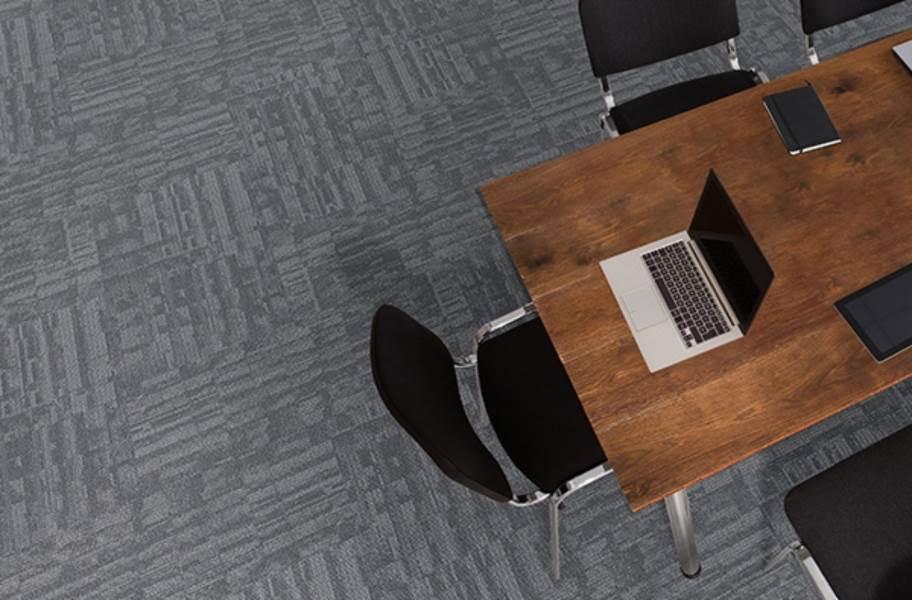 J&J Flooring Outfitter Carpet Plank - Flocked