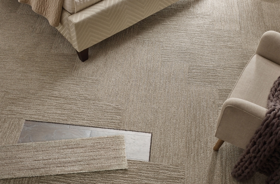 Shaw Floorigami Carpet Tile - Remnants - Spice Cookie