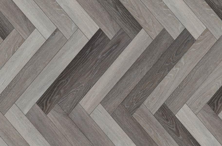 COREtec Plus Enhanced Herringbone Waterproof Vinyl - Antioch Oak