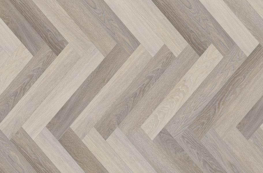 COREtec Plus Enhanced Herringbone Waterproof Vinyl - Pompeii Oak