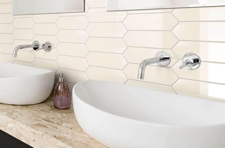 "Shaw Cutlass 3"" x 12"" Wall Tile - Cream"