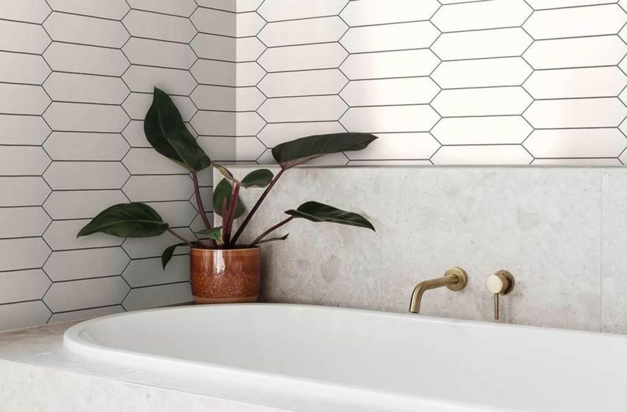 "Shaw Cutlass 3"" x 12"" Wall Tile - White Picket"