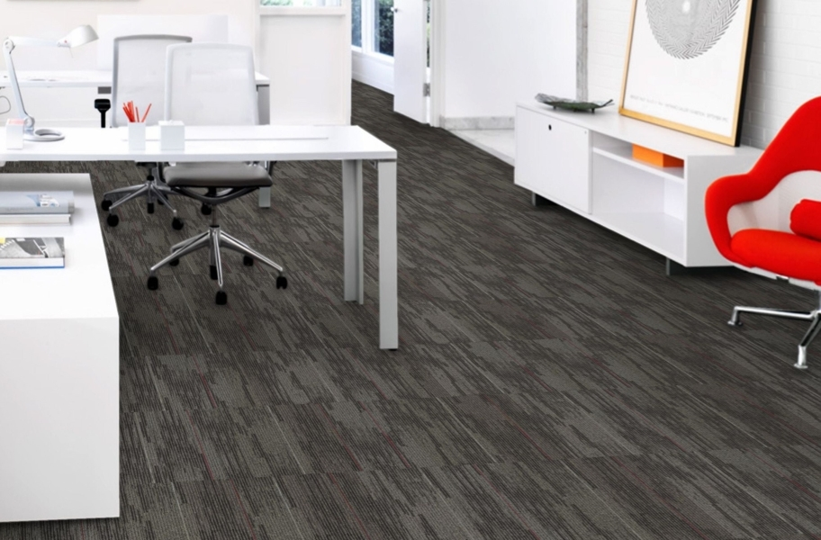 Mohawk Allocation II Carpet Tile - Assent - Brick Ashlar Installation