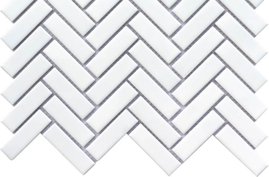 Emser Tile Impact Mosaic - Matte White Herringbone