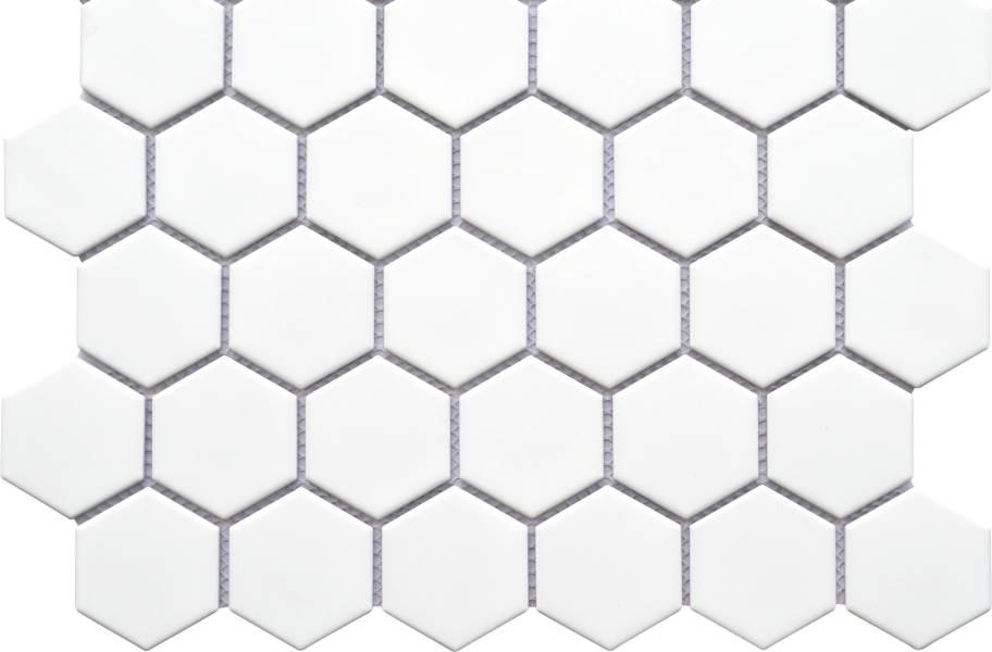 Emser Tile Impact Mosaic - Matte White Hexagon