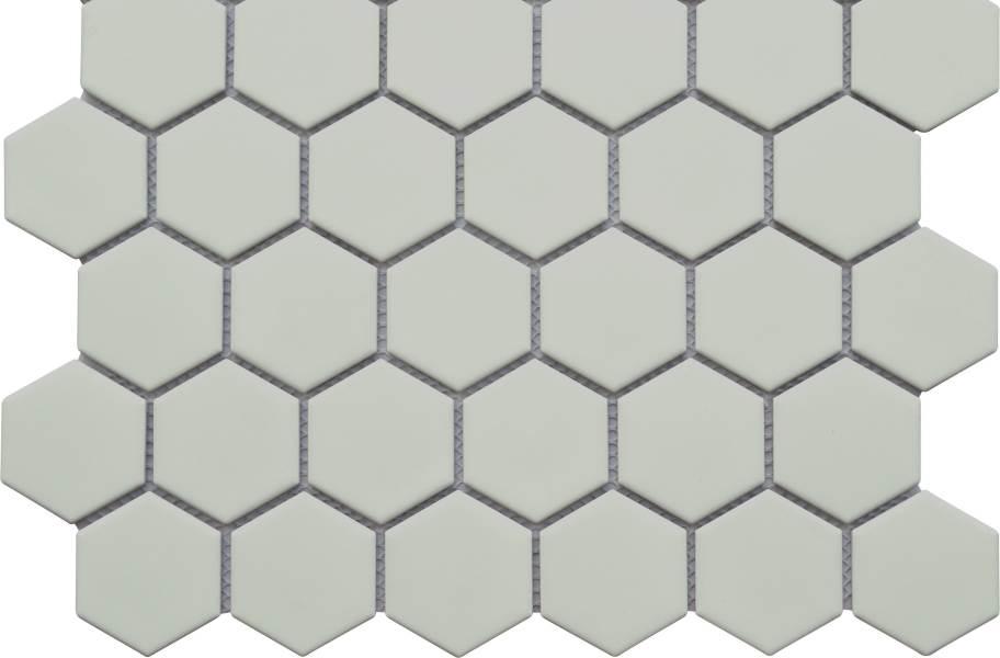 Emser Tile Impact Mosaic - Matte Gray Hexagon
