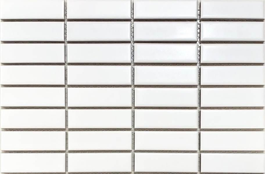 Emser Tile Impact Mosaic - Matte White Stacked