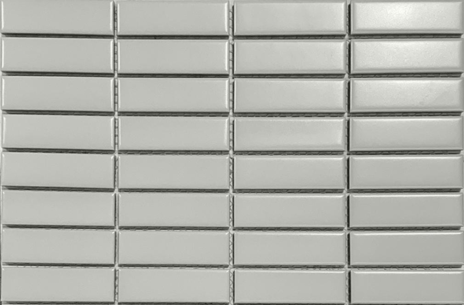 Emser Tile Impact Mosaic - Matte Gray Stacked