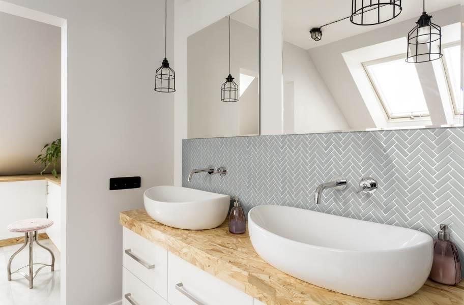 Emser Tile Impact Mosaic - Matte Gray Herringbone