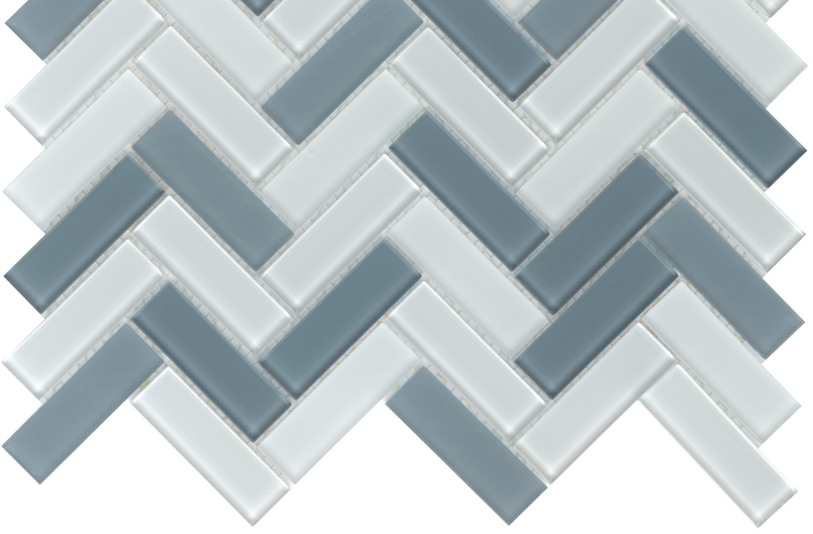 Emser Tile Charisma Glass Mosaic - Chic Herringbone