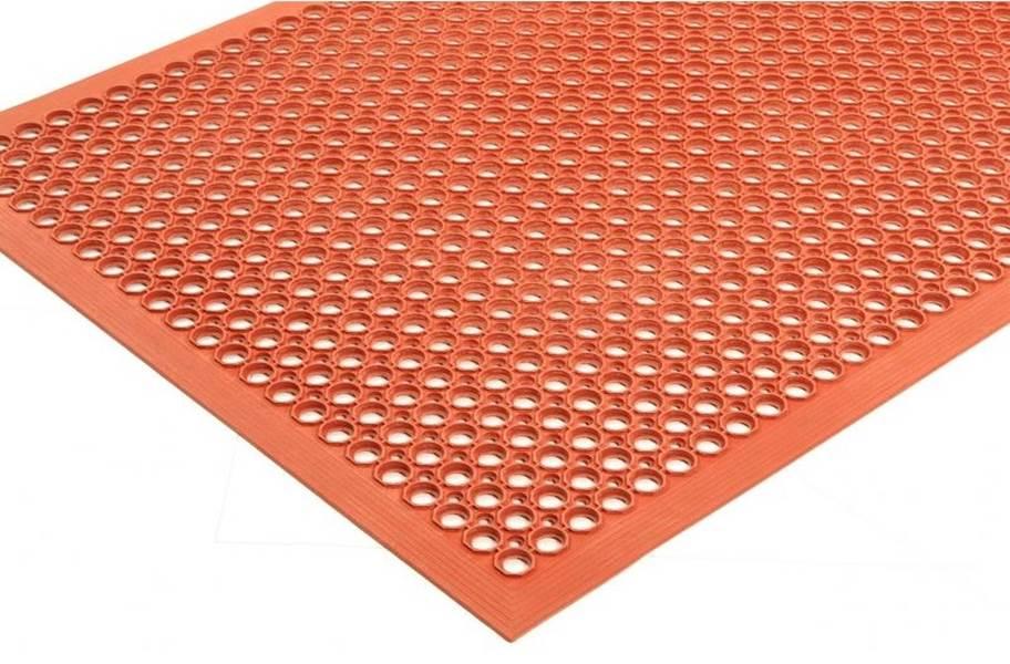 Sanitop Drainage Anti-Fatigue Mat - Red