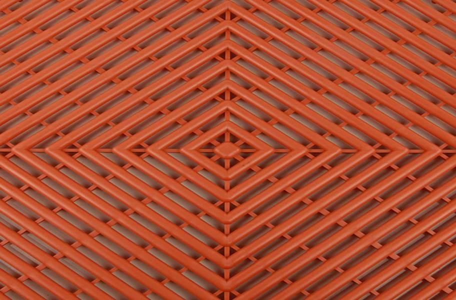 Vented Grid-Loc Tiles™ - Harley Orange