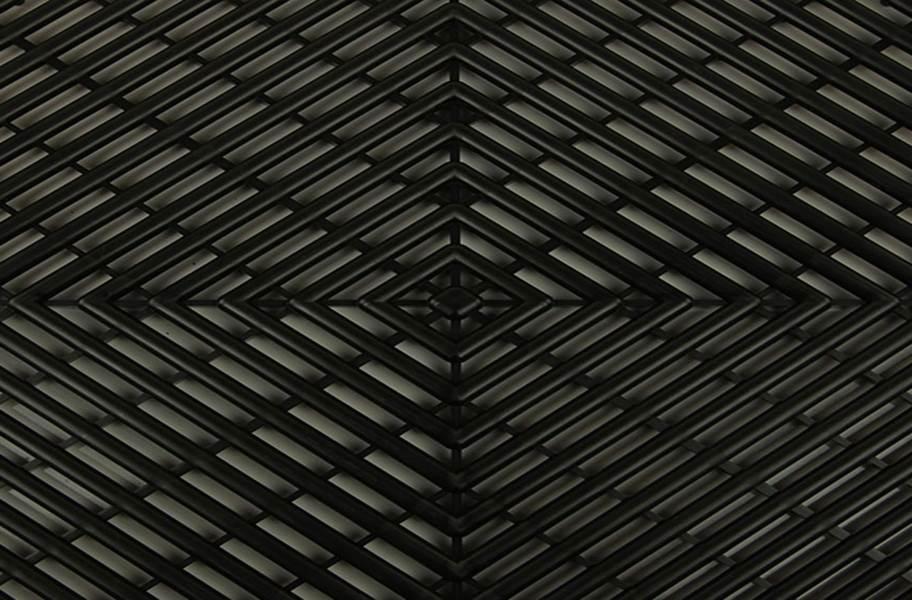 Vented Grid-Loc Tiles™ - Midnight Black