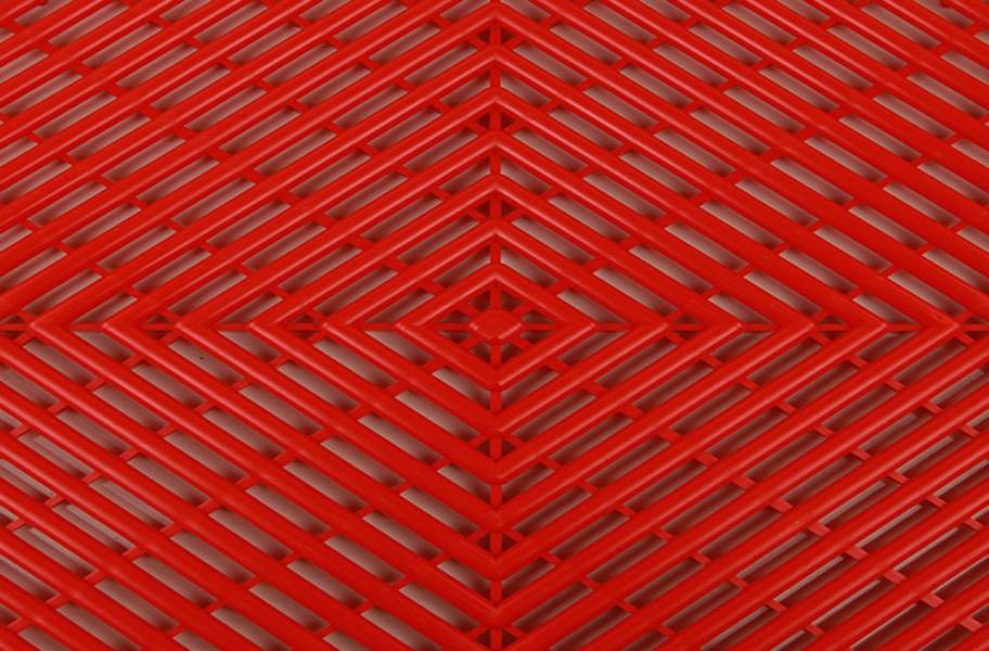 Vented Grid-Loc Tiles™ - Victory Red