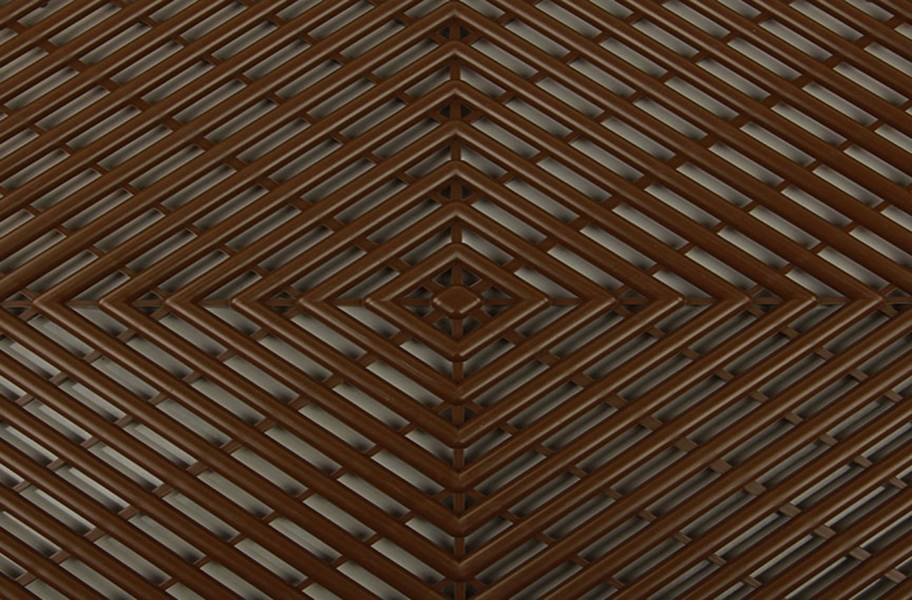 Vented Grid-Loc Tiles™ - Choco Brown