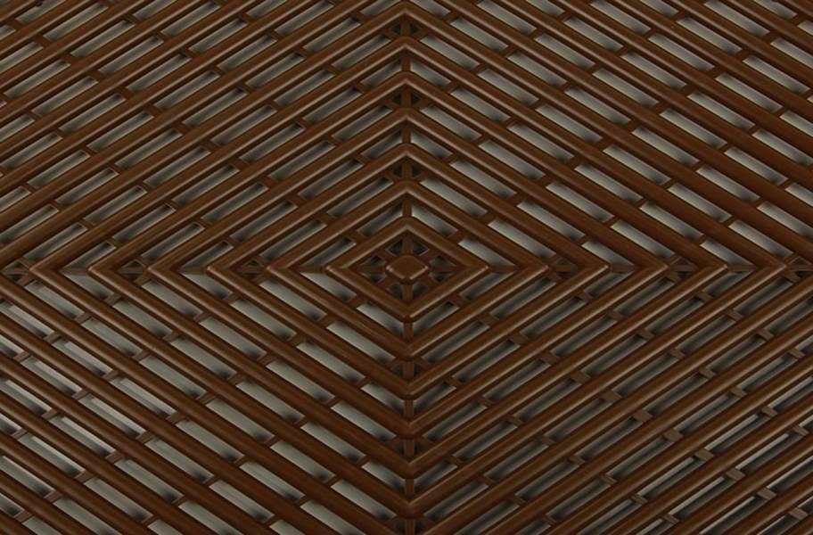 Vented Grid-Loc Tiles™ - Choco Brown