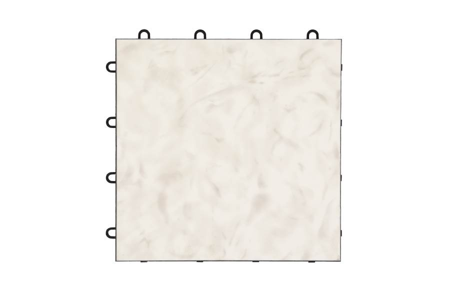 Modular Grid-Loc Tiles™ - White Onyx