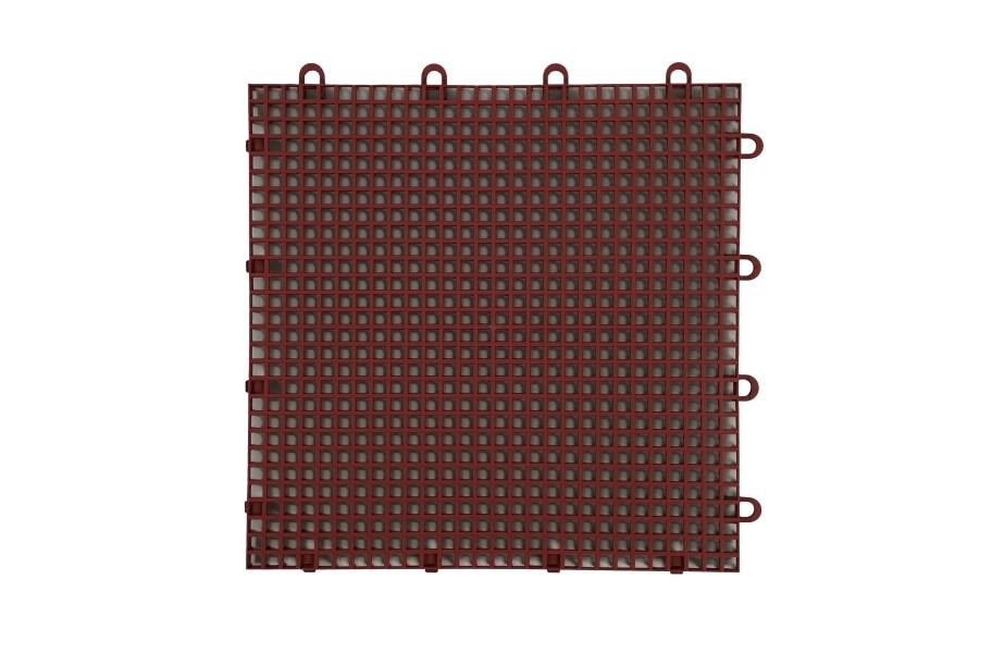 Smooth Grip-Loc Tiles - Brick Red
