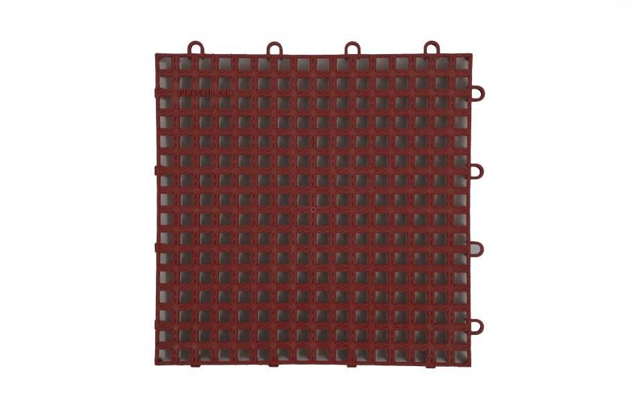 Raised Grip-Loc Tiles - Brick Red