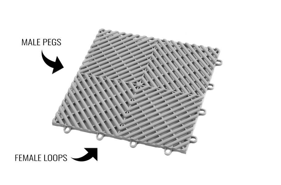 VentedGrip-Loc Tiles