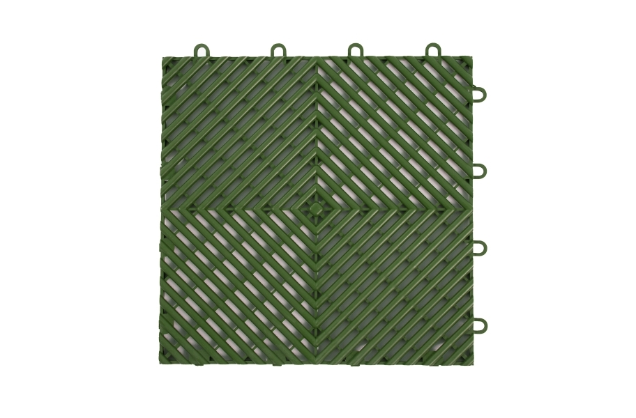Vented Grip-Loc Tiles - Green