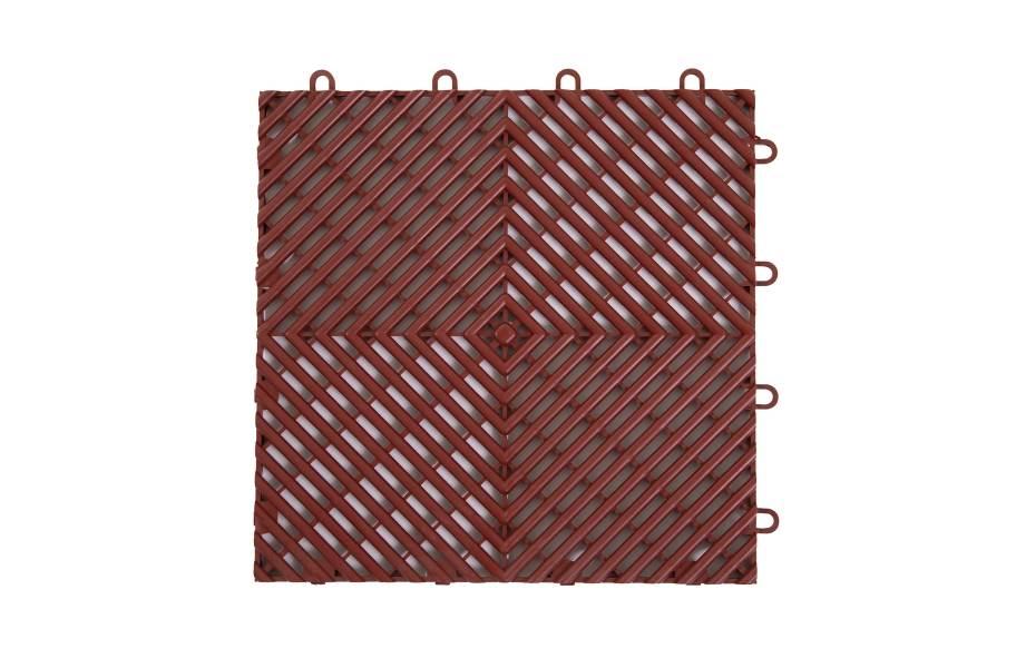 VentedGrip-Loc Tiles - Brick Red