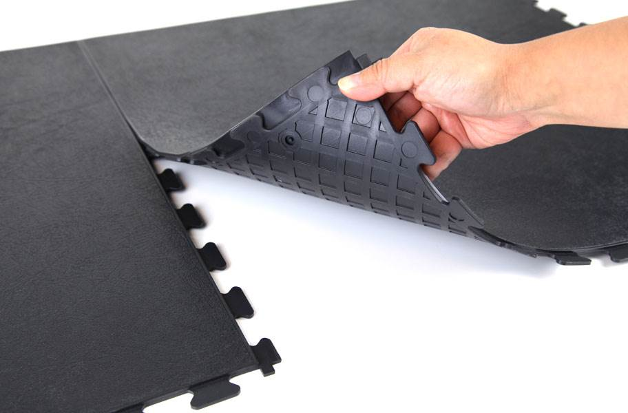Smooth Flex Tiles - Black