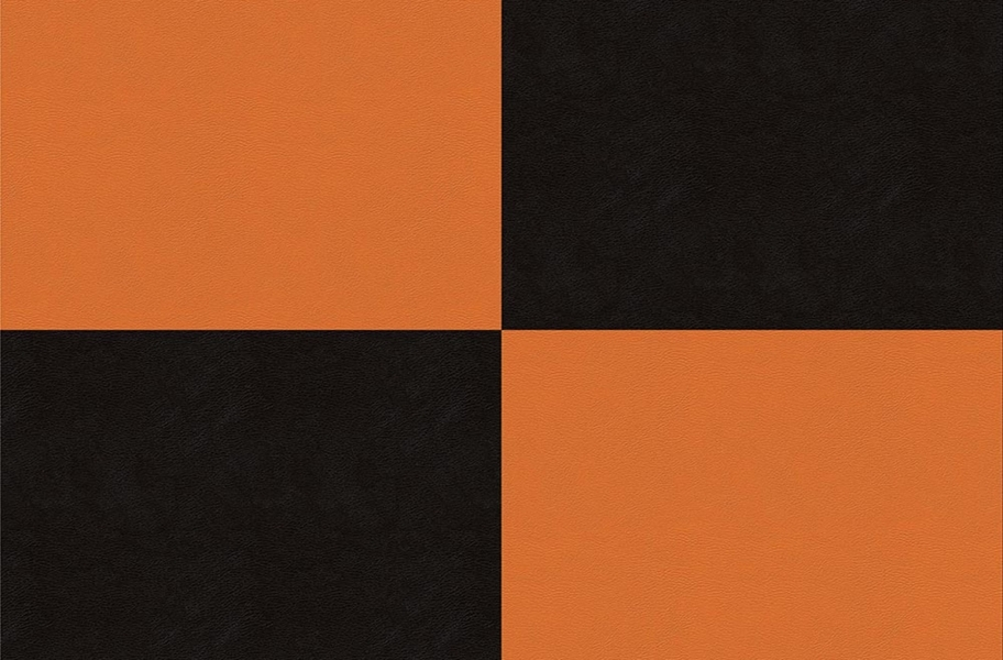 Smooth Flex Tiles - Black & Orange