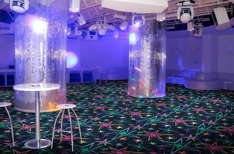 Joy Carpets Neon Lights Big Bang Tile - Under natural light