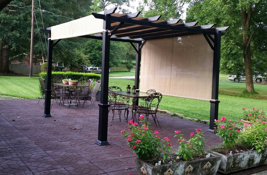 Flagstone Rubber Pavers - Red/Black