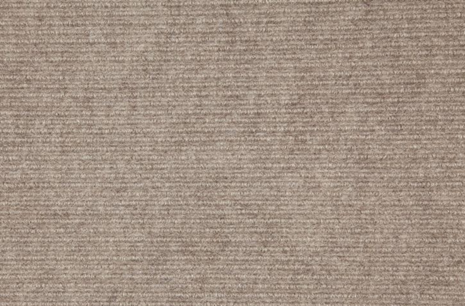 Wide Ribbed Carpet Tile - Taupe